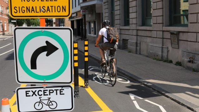 Recycled bike paths project in Quebec City